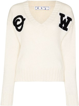 Off-White Varsity logo-patch jumper