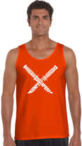 LOS ANGELES POP ART Los Angeles Pop Art Semper Fi Word Art Tank Top -Men's Big and Tall