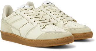 Ami Full-Grain Leather And Suede Sneakers