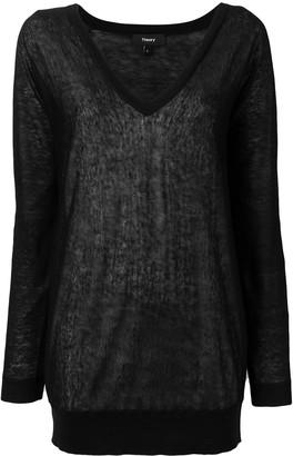 Theory deep V-neck sweater