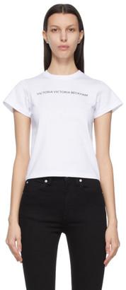 Victoria Victoria Beckham White Slim Fit Logo T-Shirt