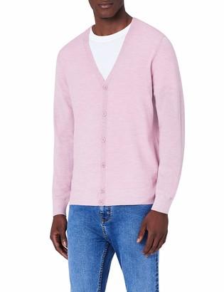 Amazon Brand - MERAKI Men's Fine Merino Wool V-Neck Cardigan