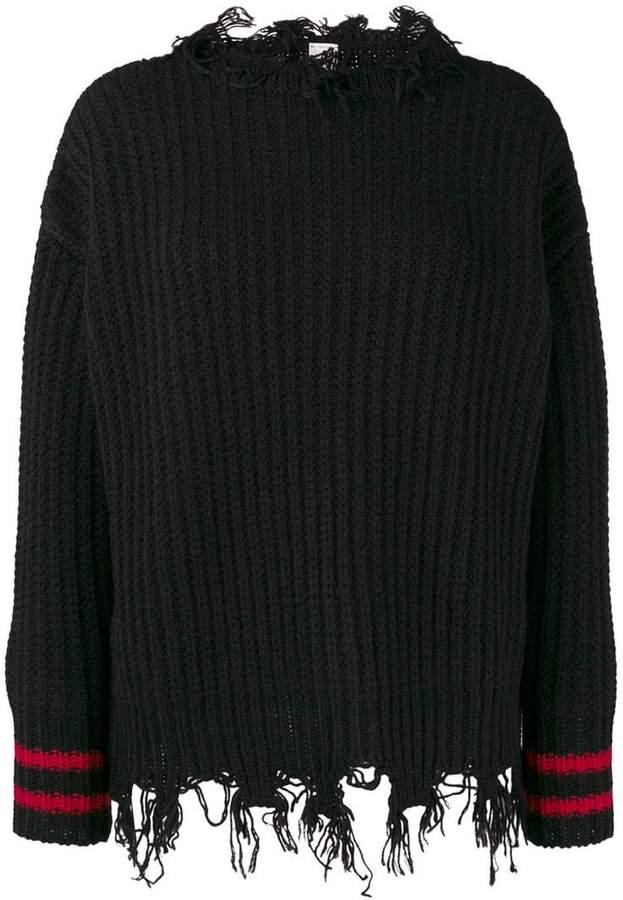 Pinko frayed trim jumper