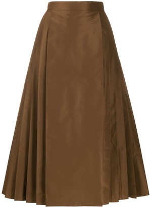 Fendi pleated A-line midi skirt