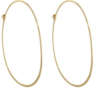 Melissa Joy Manning Extra Large Oval Yellow Gold Hoop Earrings