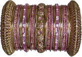 Indian Bridal Collection! Panache' Indian Bangles Set in Gold Tone By BangleEmporium.