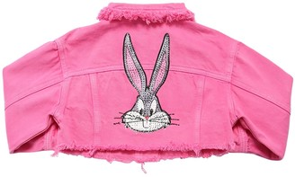 MonnaLisa Embellished Bugs Bunny Denim Crop Jacket