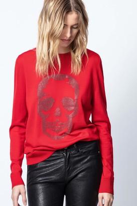 Zadig & Voltaire MIss M Skull Strass Sweater
