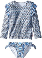Seafolly Cute D'Azure Rashie Set Girl's Swimwear Sets