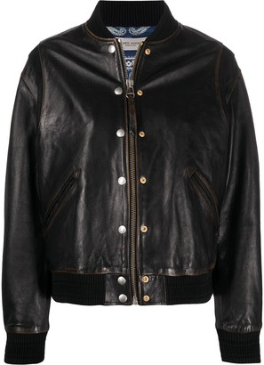 Golden Goose Decorative Buttons Leather Jacket