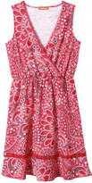 Joe Fresh Women's Print Wrap Front Dress, Red (Size M)