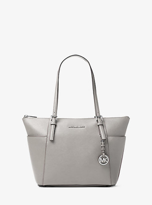 Michael Kors Jet Set Saffiano Leather Top-Zip Tote Bag