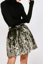 Few Moda Crushed Velvet Skirt