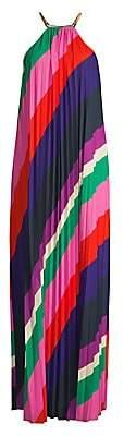 Trina Turk Women's Plume Pleated Multi-Stripe Dress