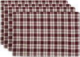 METRO FARMSHOUSE BY PARK B SMITH Metro Farmhouse By Park B. Smith Set of 4 Plaid Placemats