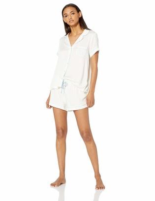Splendid Women's Bridal Sleeve Top and Short Classic Pajama Set Pj