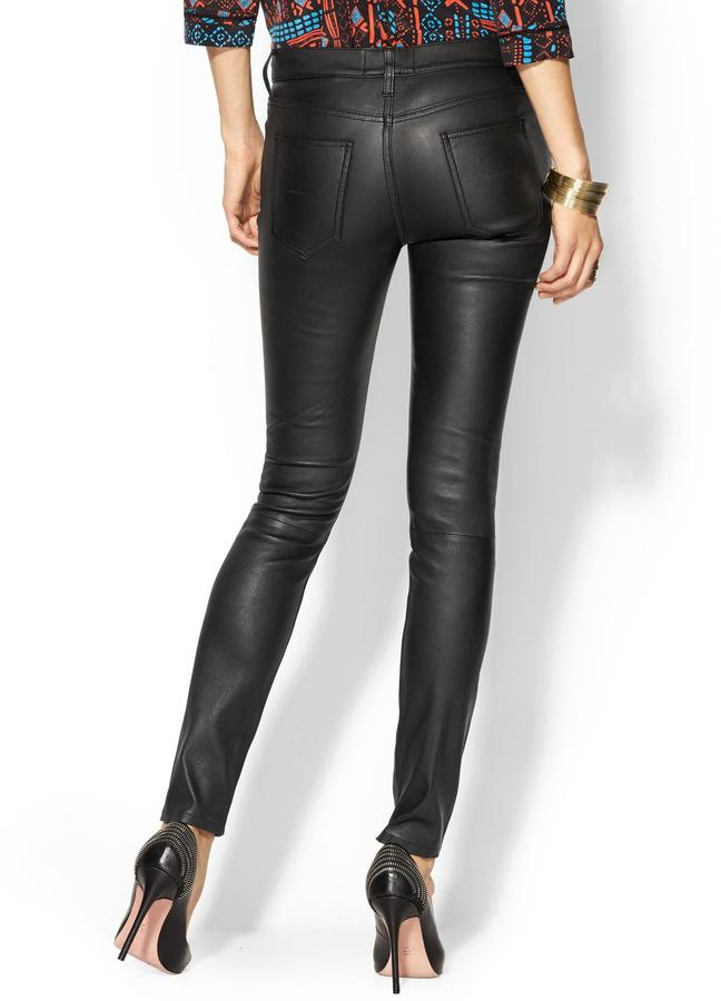 Current/Elliott The Leather Ankle Skinny