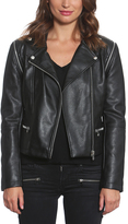Members Only Black Faux Leather Biker Jacket - Women