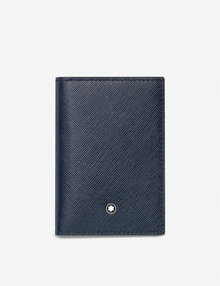 Montblanc Sartorial leather business card holder with gusset