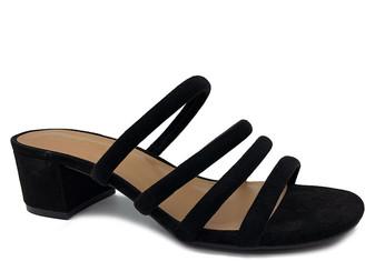 Bamboo Women's Sandals BLACK - Black Tube-Strap Swell Sandal - Women