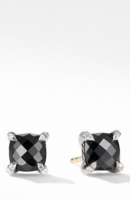 David Yurman Chatelaine(R) Stud Earrings with Black Onyx & Diamonds
