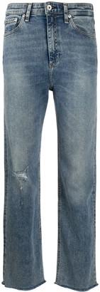 Rag & Bone Mid Rise Straight Jeans