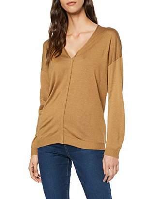 Sisley Women's V Neck Sweater L/s Jumper,Large