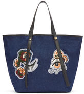 See by Chloe Blue Denim Embroidered Tote