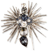 Oscar de la Renta Celestial Star Crystal Pin, Gray