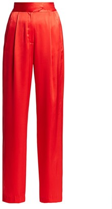 Mason by Michelle Mason Silk Wide-Leg Trousers