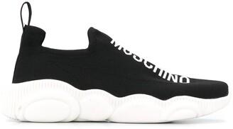 Moschino Logo-Print Slip-On Sneakers