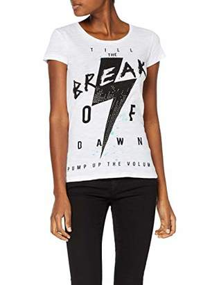 trueprodigy Casual Womens Clothes Funny and Cool Designer T-Shirt Shirt for Ladies with Design Crew Neck Slim Fit Short Sleeve Sale, Size:M, Colours: