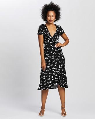Dorothy Perkins Ruffle Midi Wrap Dress