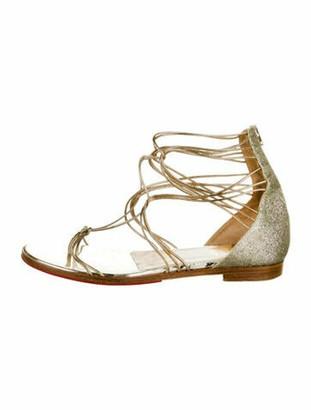 Christian Louboutin Glitter Gladiator Sandals Gold