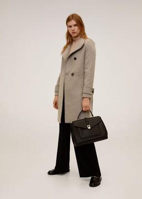MANGO Side closure coat