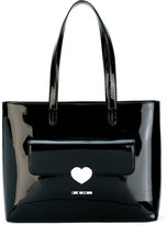 Love Moschino logo heart tote