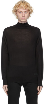 Givenchy Black Wool and Silk Turtleneck