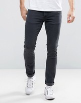 Nudie Jeans Long John Skinny Jeans Gray on Gray