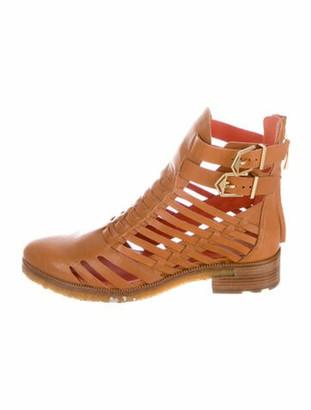 Femmes Sans Peur Leather Boots Brown