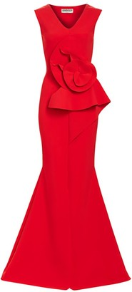 Chiara Boni Ebeline Rosette Detail Gown