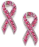 Fresh Crystal Breast Cancer Ribbon Post Earrings