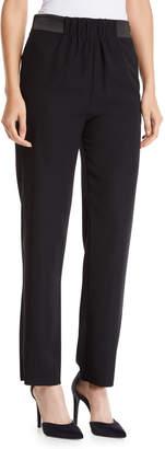 Emporio Armani Tech Cady Pants with Grosgrain Waistband