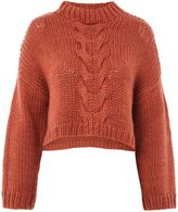NATIVE YOUTH Cable Knitted Crop Jumper