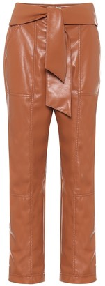 Jonathan Simkhai High-rise faux-leather pants