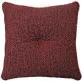 Veratex Corsica Button-Tufted Chenille Square Pillow