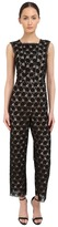 Yigal Azrouel Circle Lace Square Neck Sleeveless Jumpsuit