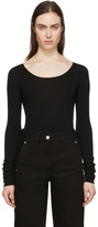 Lemaire Black Second Skin Long Sleeve Pullover