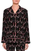 Valentino Love Blade Pajama Top, Black