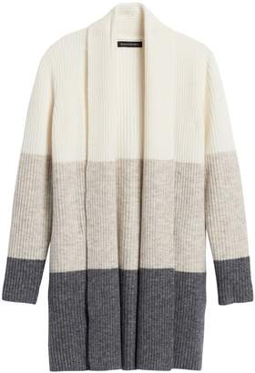 Banana Republic Color-Block Long Cardigan Sweater