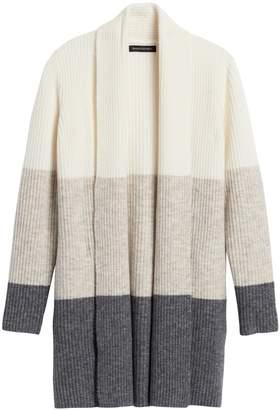 Banana Republic Color-Block Long Cardigan Sweater